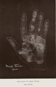 Mark Twain's palm