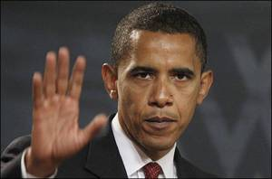 Note the long straight vertical line running through the center of Barack Obama's hand.