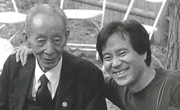 Michio and Norio, July 2001 - Photo by Seth Levine